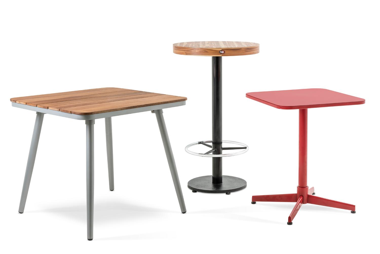 Mesas para restaurantes for Mesa para bar madera
