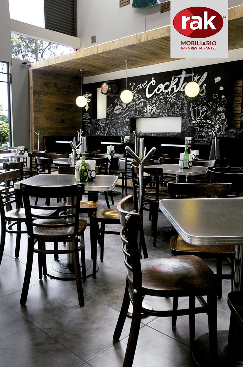 Rak mobiliario para restaurantes y cafeterias - Sillas para cafeterias ...